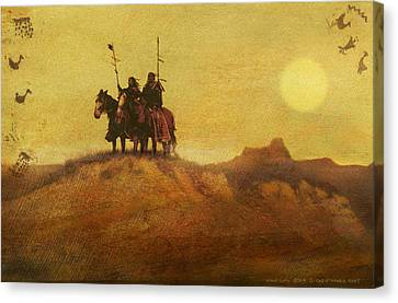 Edward Curtis Elements Combined2 Canvas Print by R christopher Vest