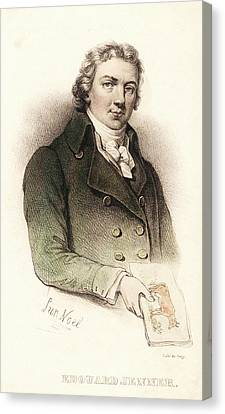 Edward Jenner Canvas Print by National Library Of Medicine