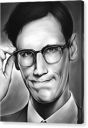 Edward Nygma Canvas Print by Greg Joens