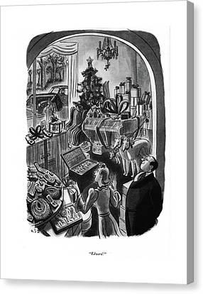 Jewels Canvas Print - Edward! by Robert J. Day