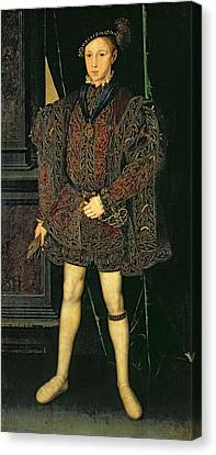 Edward Vi 1537-53 Canvas Print by Guillaume Scrots