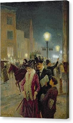 Edwardian London Canvas Print by Eugene Joseph McSwiney
