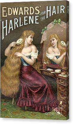 Edwards Harlene For Hair 1890s Uk Hair Canvas Print by The Advertising Archives