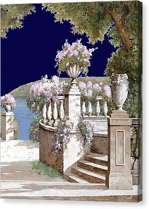 La Balaustra Di Notte Canvas Print by Guido Borelli