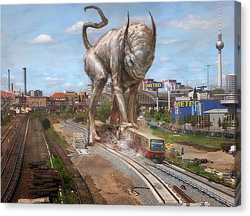 Eeek Berlin Canvas Print by Ethan Harris