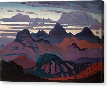 Deep Twilight Pyrenees Canvas Print by James Dickson Innes