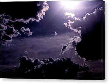 Canvas Print featuring the photograph Eerie Afternoon Sky by Amanda Holmes Tzafrir