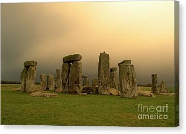 Eerie Stonehenge Canvas Print by Deborah Smolinske