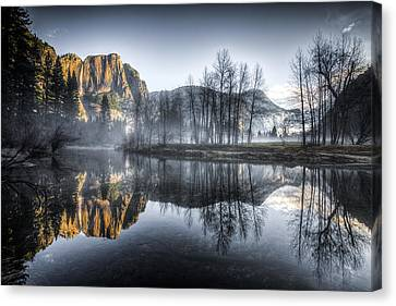 Eerie Valley Under The Falls Canvas Print by Mike Lee