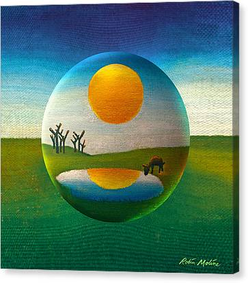 Canvas Print featuring the painting Eeyorb  by Robin Moline