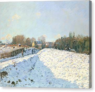 Effect Of Snow At Argenteuil Canvas Print by Alfred Sisley