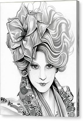 Effie Trinket - The Hunger Games Canvas Print by Fred Larucci