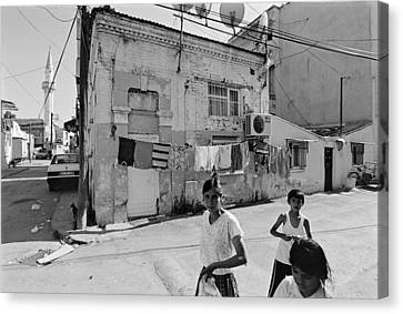 Ege Neighborhood In Izmir In Turkey Canvas Print by Ilker Goksen