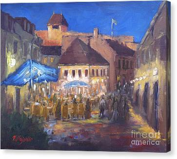 Eger At Night Canvas Print