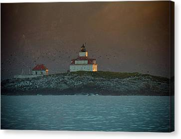 Egg Rock Island Lighthouse Canvas Print by Sebastian Musial