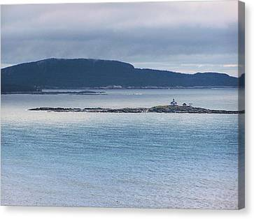 Egg Rock Light Canvas Print by Gene Cyr