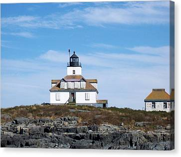 Egg Rock Lighthouse Canvas Print by Catherine Gagne