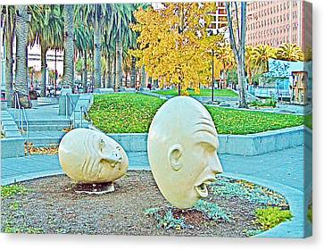 Eggheads In Park Near Embarcadero Towers In San Francisco-california  Canvas Print