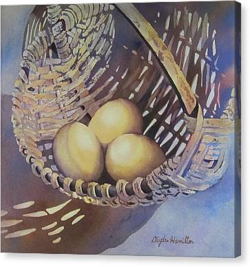 Eggs In A Basket II Canvas Print