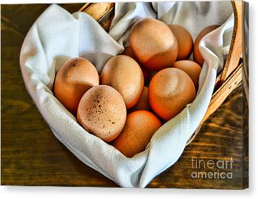 Eggs In A Basket Canvas Print by Paul Ward
