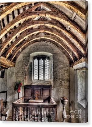 Eglwys Celynnin Sant Canvas Print by Adrian Evans