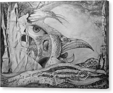 Ego-bird-fish Nesting Ground Canvas Print by Otto Rapp