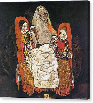 Egon Schiele Paintings Canvas Print by Celestial Images