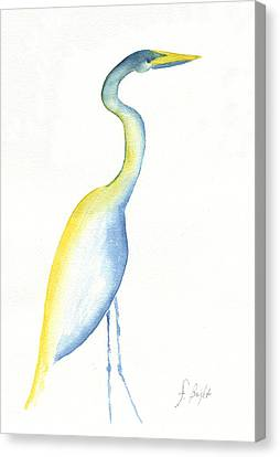 Egret's Glance Canvas Print by Frank Bright
