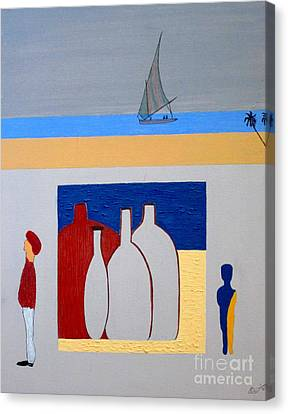 Canvas Print featuring the painting Egypt Afternoon by Bill OConnor
