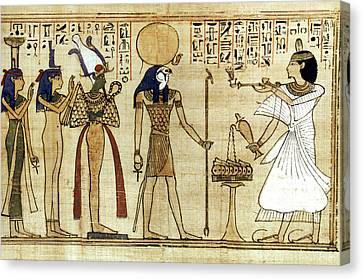 Egypt Book Of The Dead Canvas Print by Granger