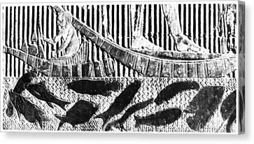 Egypt Fishing Scene Canvas Print by Granger