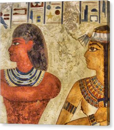 Canvas Print featuring the painting Egypt Pharaohs by Georgi Dimitrov