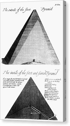 Egypt: Pyramid Diagram Canvas Print by Granger