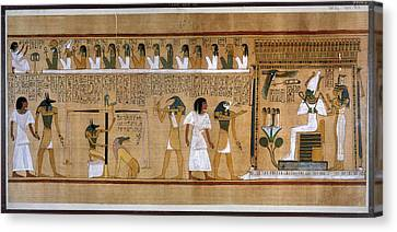 Egypt Weighing Of Souls Canvas Print by Granger