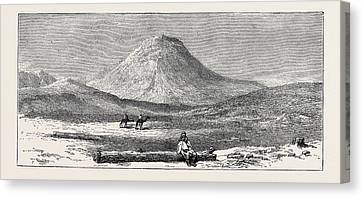 Antiquities Canvas Print - Egyptian Antiquities The Reputed Ruined Pyramid Of Lepsius by Egyptian School