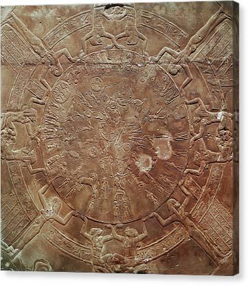 Egyptian Celestial Sphere Canvas Print by Granger