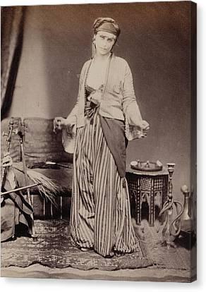 Egyptian Dancing Girl Roger Fenton, English Canvas Print