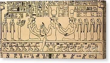 Dendera Canvas Print - Egyptian Fresco by Granger