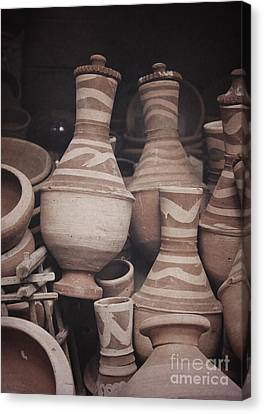 Canvas Print featuring the photograph Egyptian Hand Made Traditional Bowl Of Cold Water by Mohamed Elkhamisy