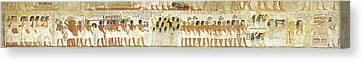 Egyptian Hieroglyphs On The Wall, Tomb Canvas Print