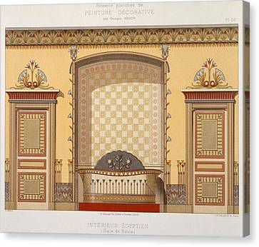 Egyptian Interior , From Interior Canvas Print by Georges Remon