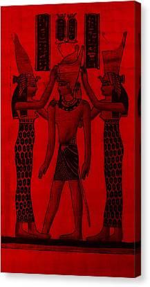 Pharaoh Atem Red Canvas Print by Rob Hans