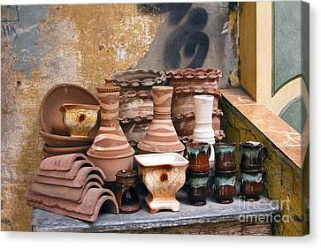 Egyptian Potter Canvas Print by Mohamed Elkhamisy