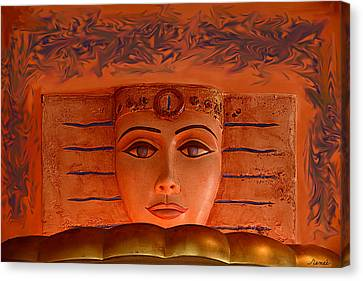Egyptian Queen Nefertiti  Canvas Print by Renee Anderson