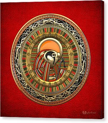Egyptian Sun God Ra Canvas Print by Serge Averbukh