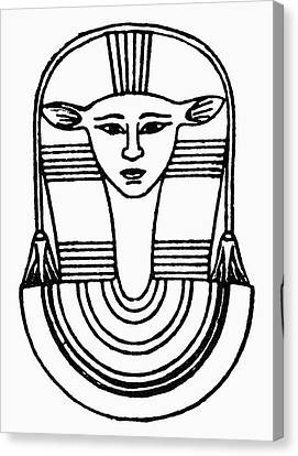 Egyptian Symbol Hathor Canvas Print by Granger