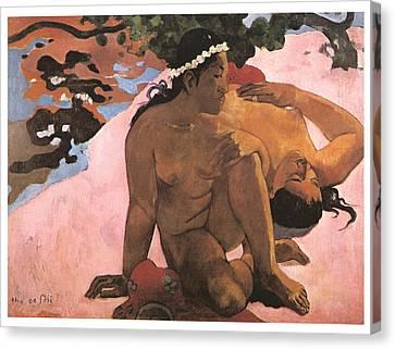 Eh Quoi Es-tu Jalouse Canvas Print by Paul Gauguin