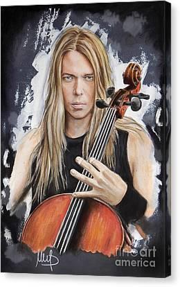 Eicca Toppinen _ Apocalyptica Canvas Print by Melanie D