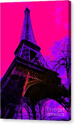 Eiffel 20130115v3 Canvas Print by Wingsdomain Art and Photography