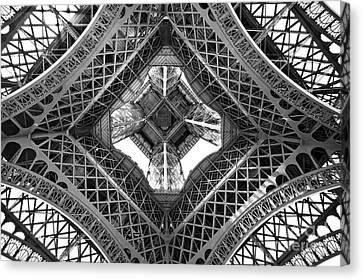 Eiffel Abstract Canvas Print by Delphimages Photo Creations